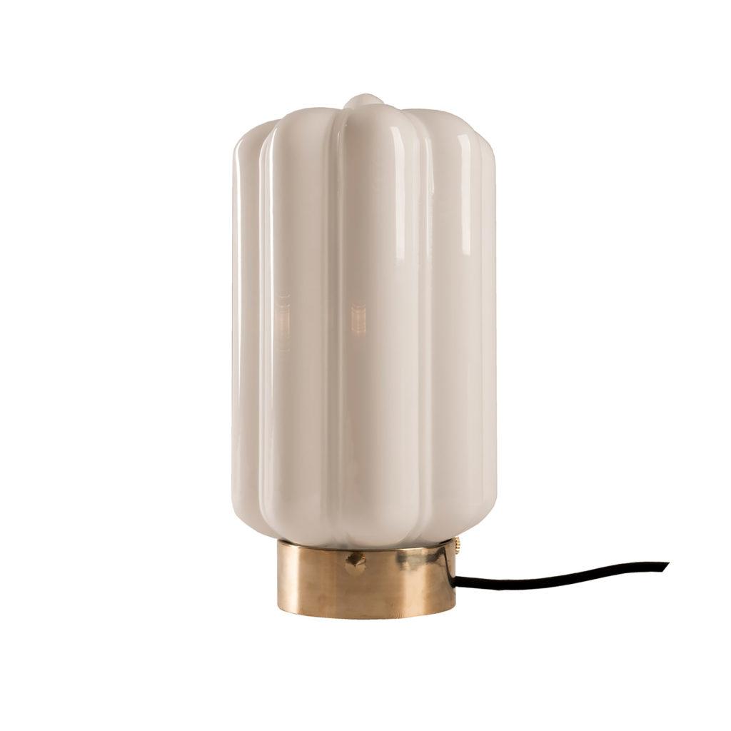 Stołowa lampa Deco białe