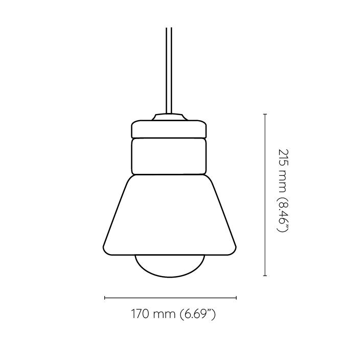 mała wisząca lampa korkowa Dzwonek