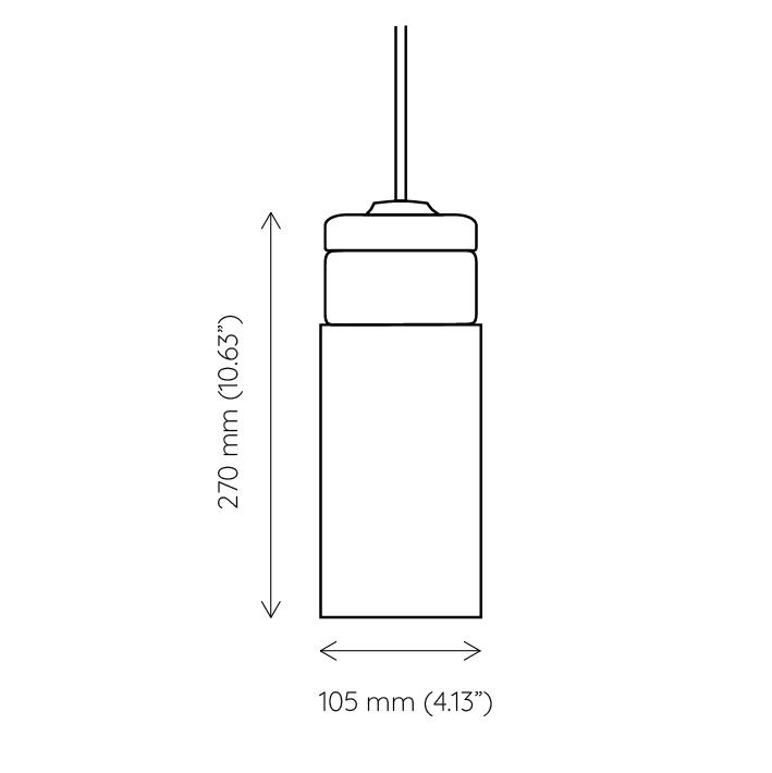 mała wisząca lampa korkowa Cylinder