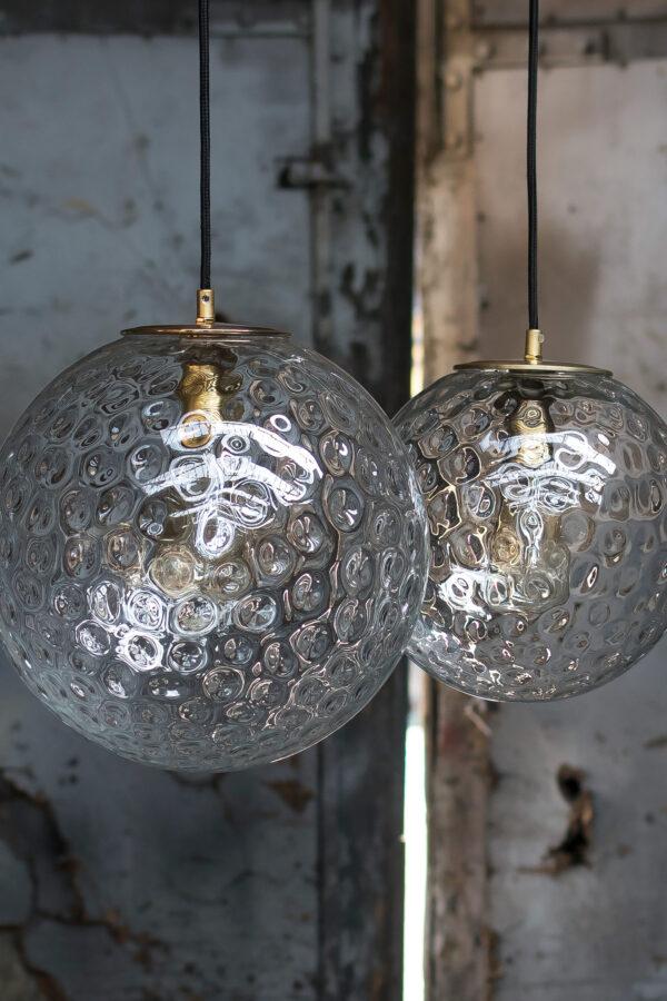 Szklane lampy wiszace kule Reflecyjne