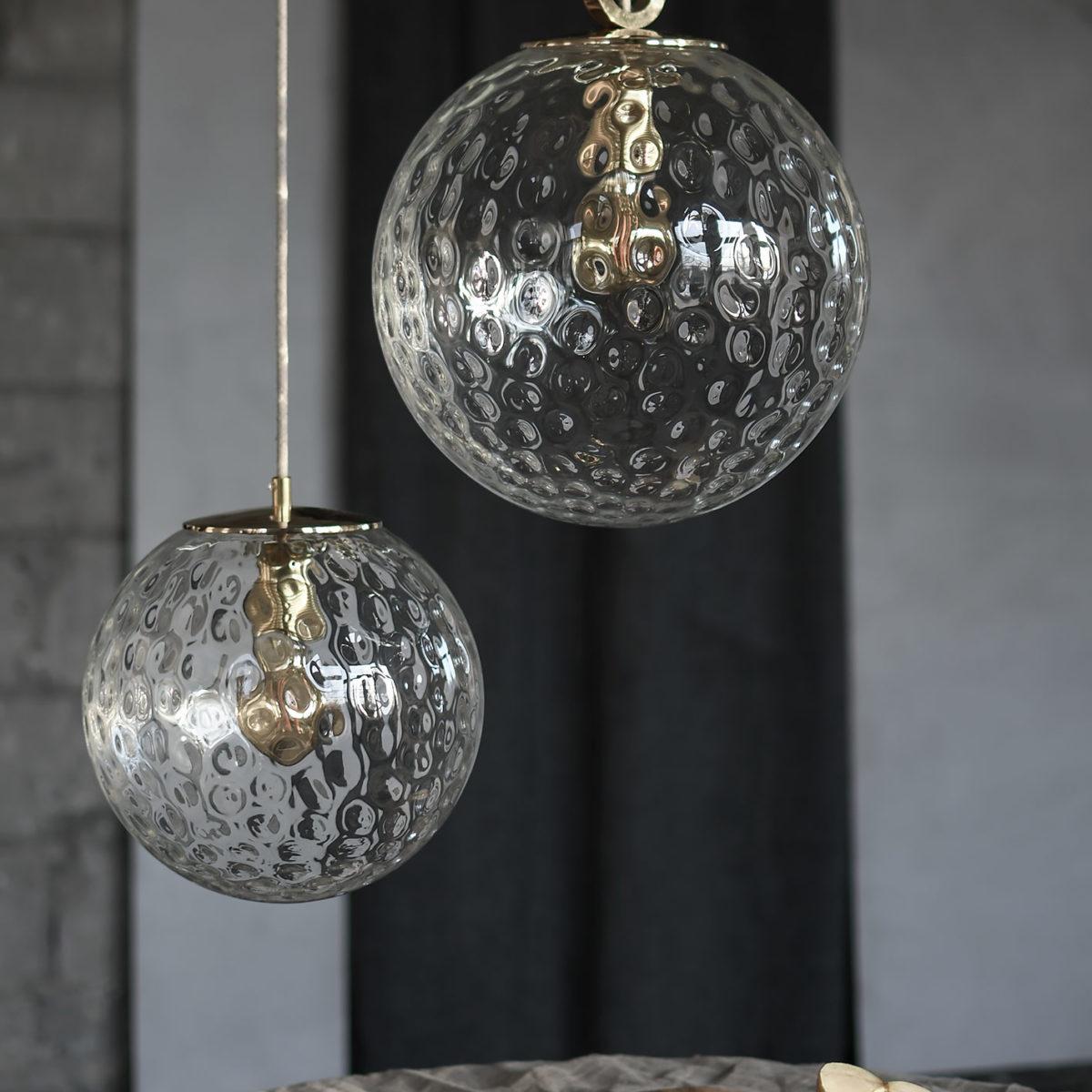 Szklane lampy wiszace kule Reflesyjne 3