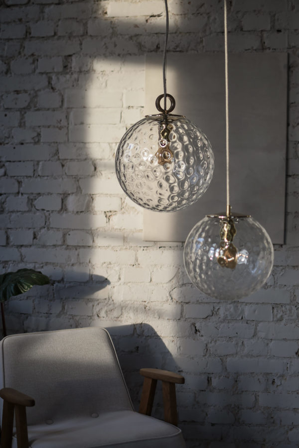 Szklane lampy wiszace kule Reflesyjne