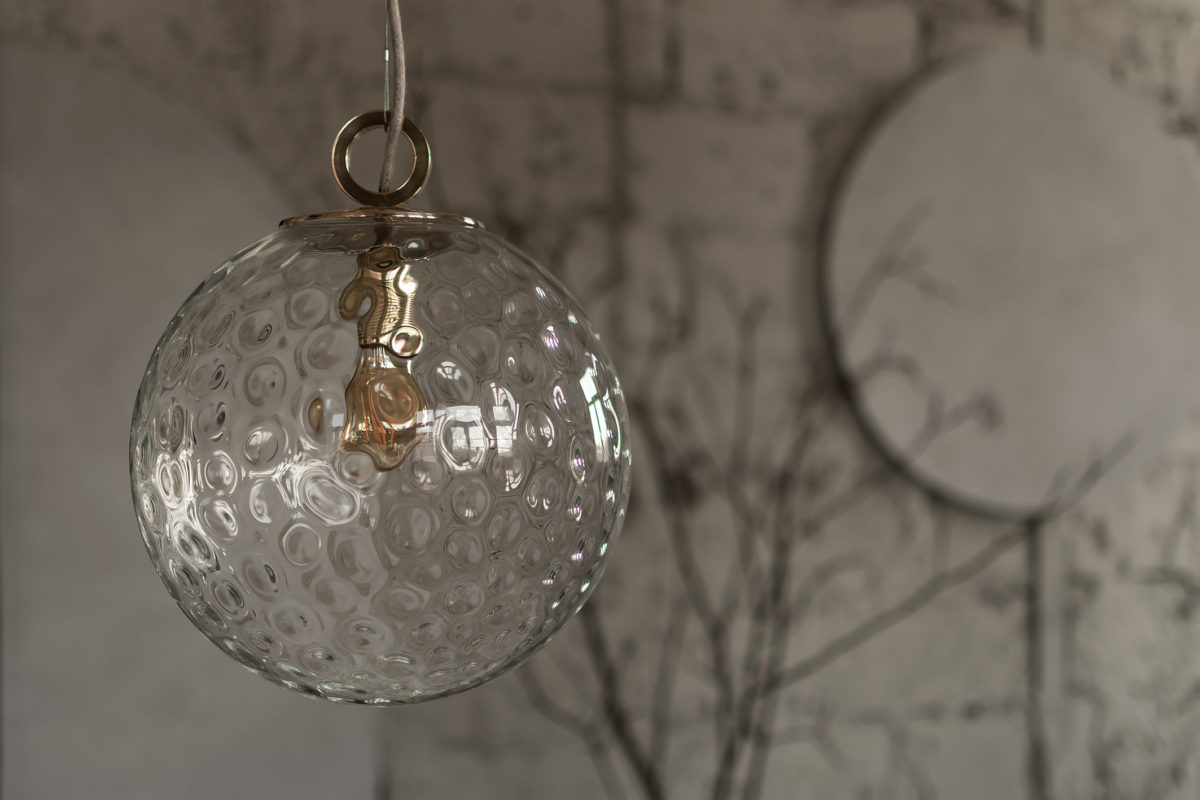 Lampa Wisząca Kula Reflesyjna z pierścieniem