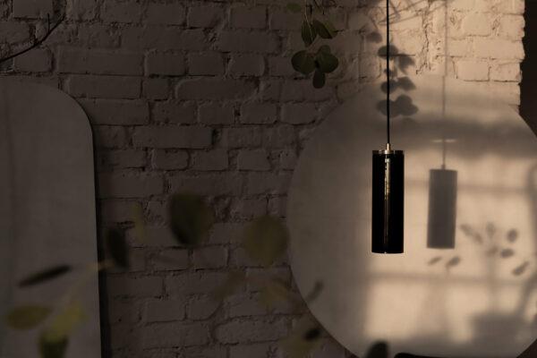 Czarna Szklana Lampa Wiszaca Kopenhaga 2