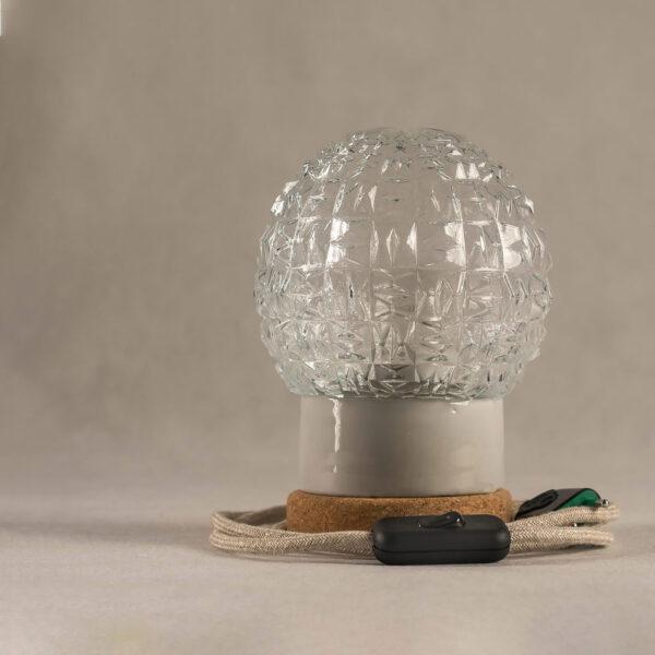 lampka korkowa ze szklanym kloszem Granat