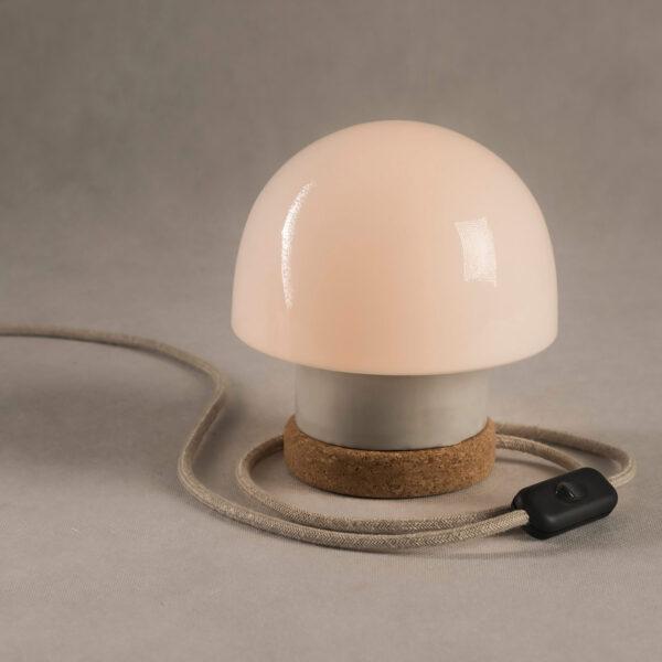 lampka korkowa ze szklanym kloszem Grzybek 2