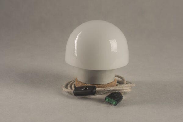 stołowa mała lampka korkowa ze szklanym kloszem Grzybek 3