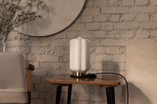 Szklana lampa stołowa Deco Białe 2