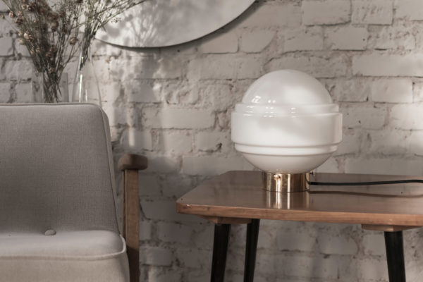 Lampa Stojąca ze szkła Saturn