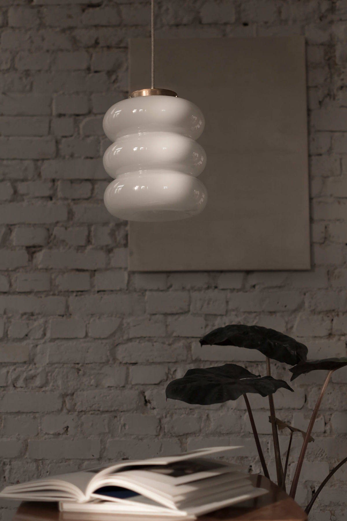 Szklana lampa wisząca Bibe