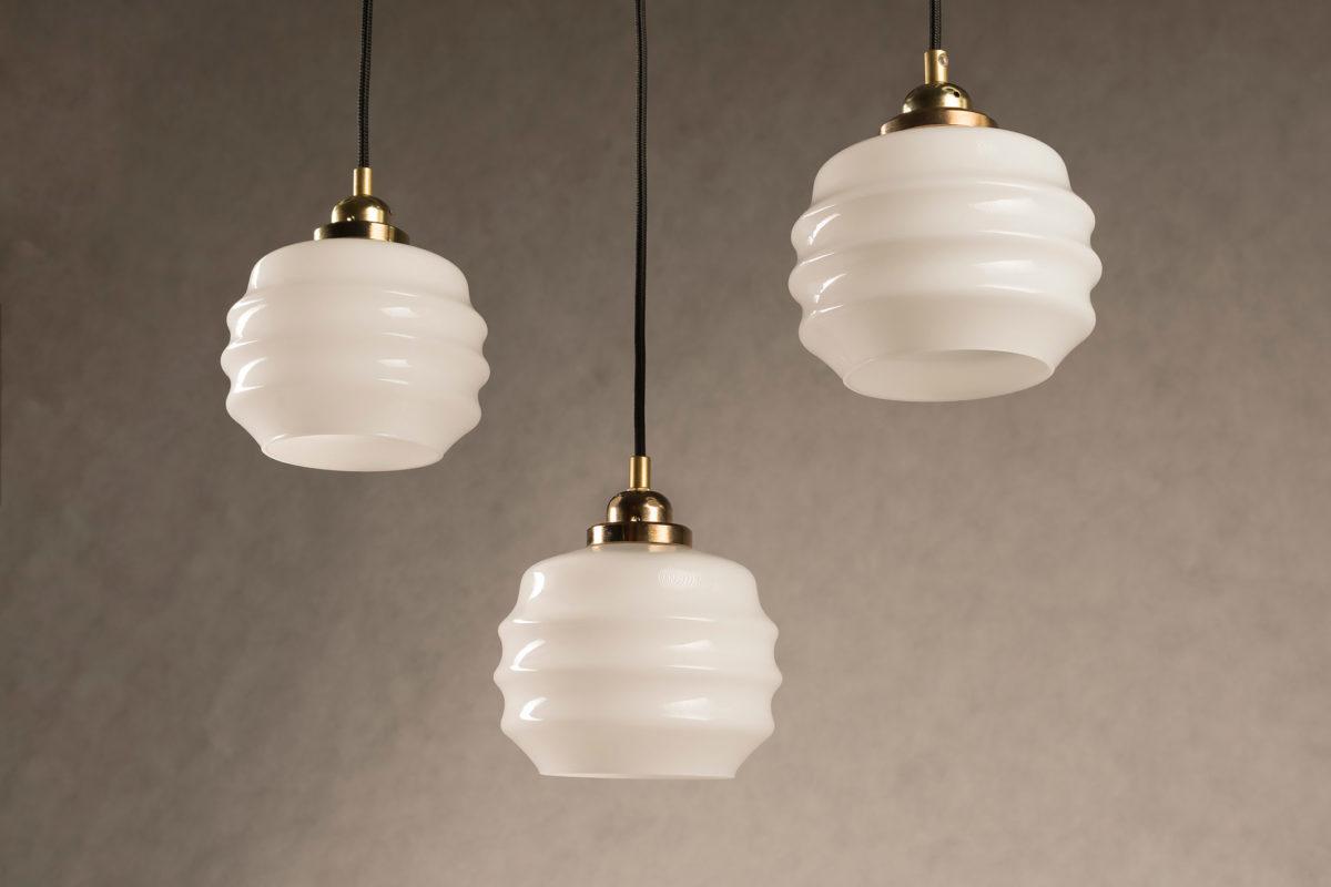 małe Ule białe lampy wiszące ze szkła mlecznego