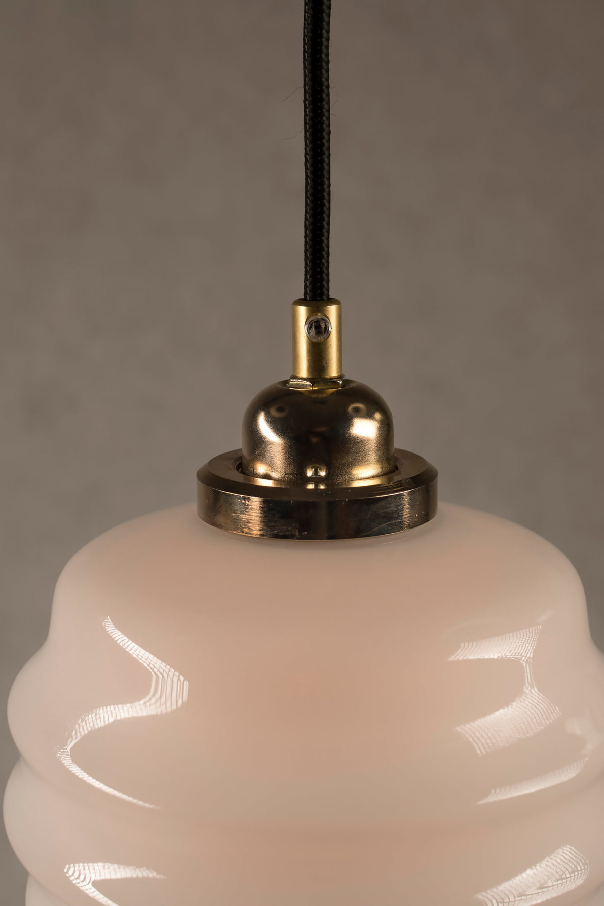 Mały Ul szklana lampka wisząca z mosiądzem