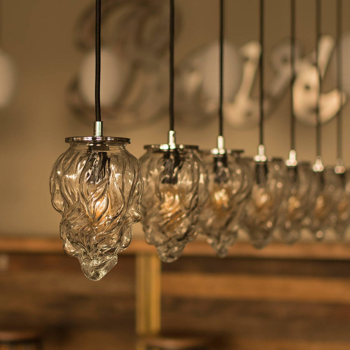 Glass Pendant Light Flame