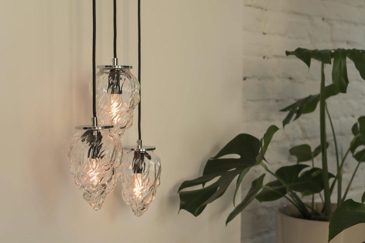 Glass Pendant Light Flame