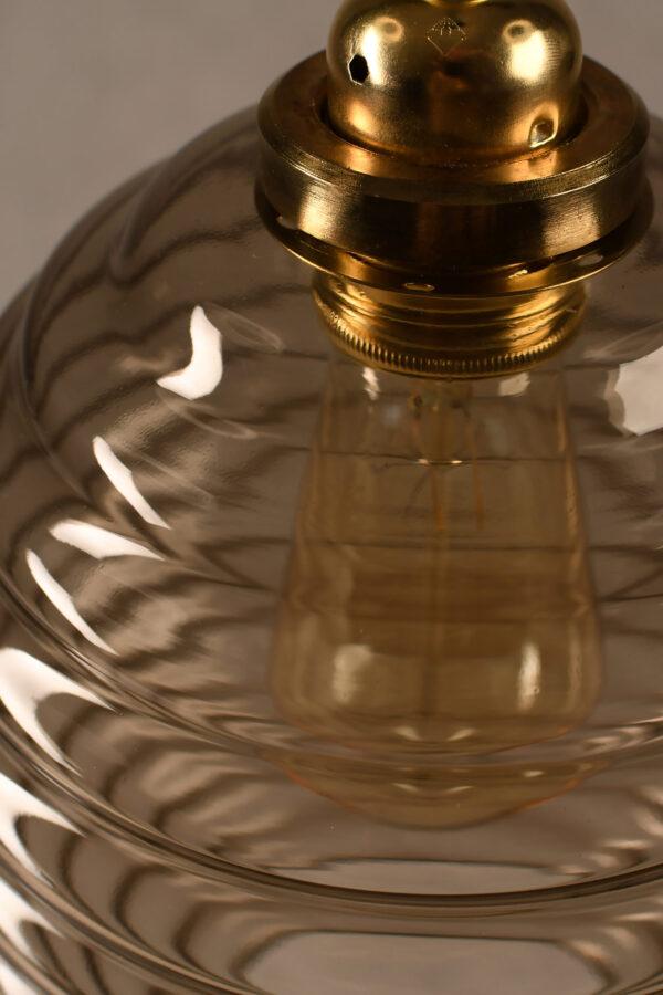 Glass Pendant Light Smoked Beehive