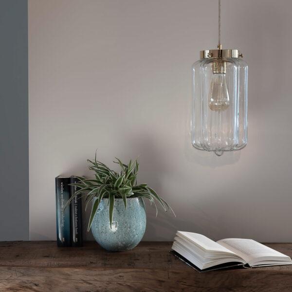 Glass Pendant Ligh Clear Deco (1)