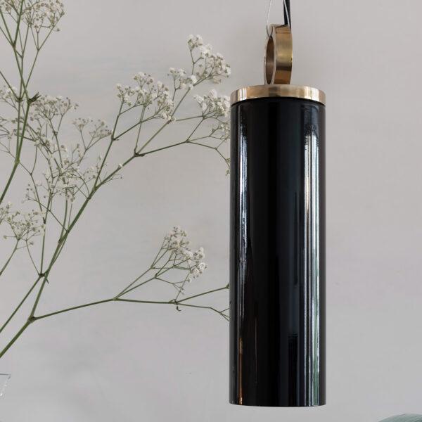 Glass Pendant Light Black Copenhagen