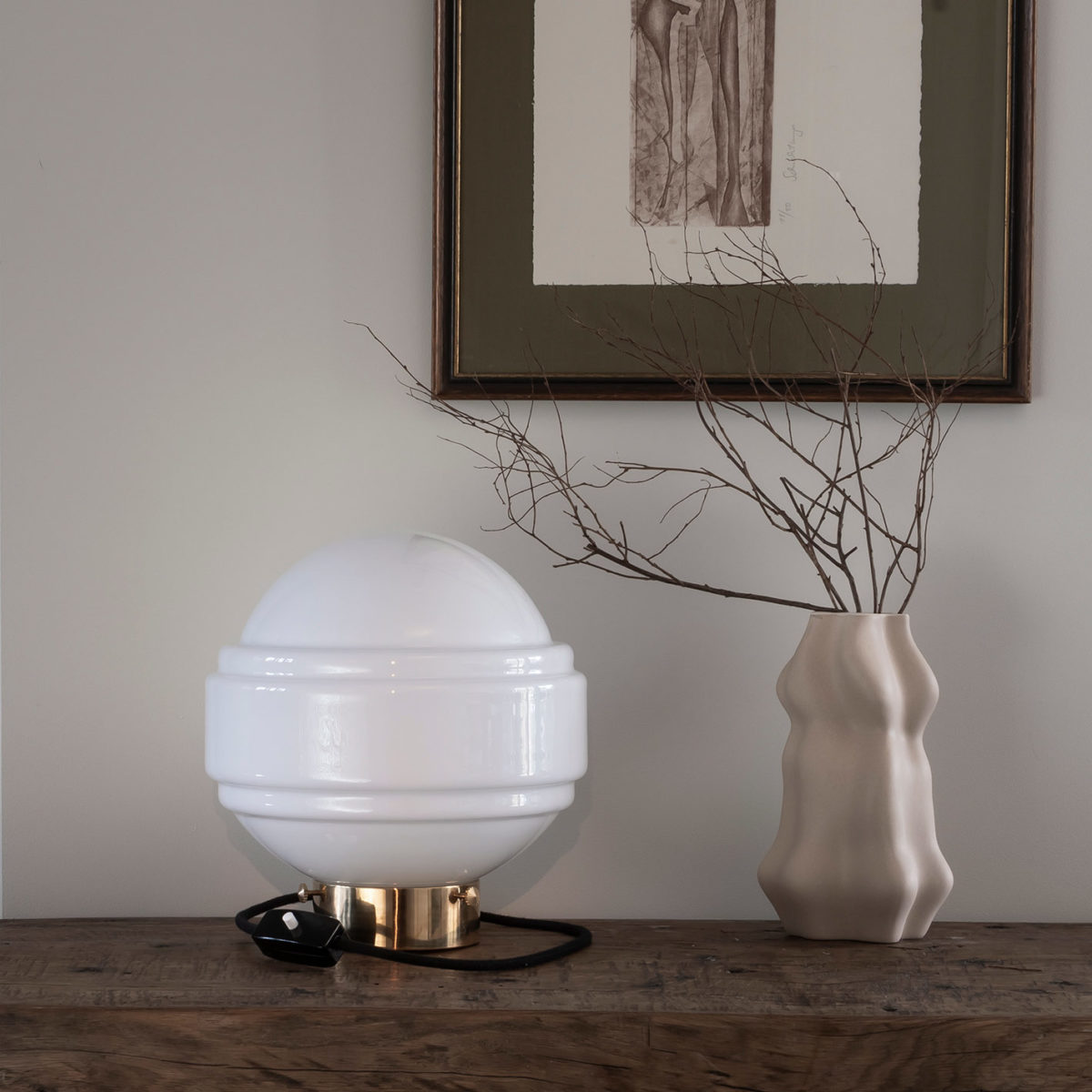 Glass Table Lamp Saturn 7
