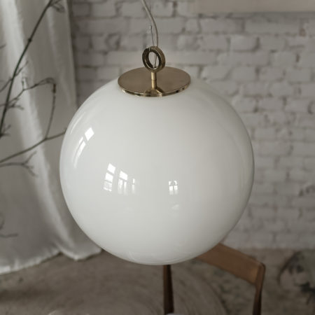 Glass Pendant Light Large Ball With Ring
