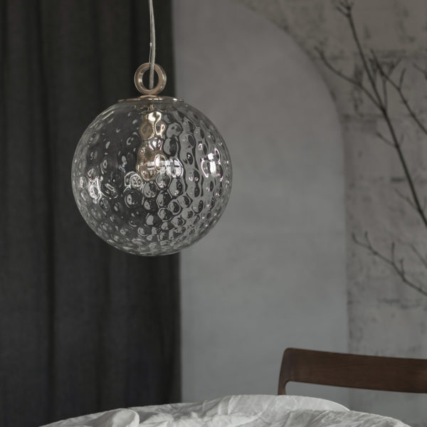 Glass Pendant Light Reflection Globe With Ring